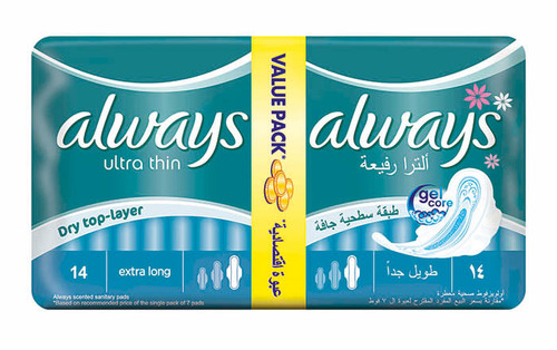 Always Pads Ultra Thin Extra Long 14 buy online in Pakistan