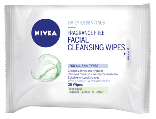 Nivea Fragrance Free Cleansing Wipes