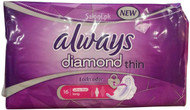 Always Diamond Ultra Thin Long 16 Pads Front