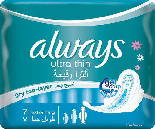 Always Ultra Thin Extra Long 7 Pads best price
