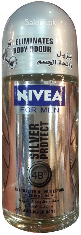 Nivea For Men Silver Protect 48h Anti-Bacterial Protection Deodorant 50 ML Front