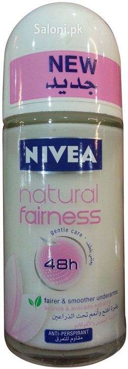 New Nivea Natural Fairness 48h Roll-On Deodorant 50 ML
