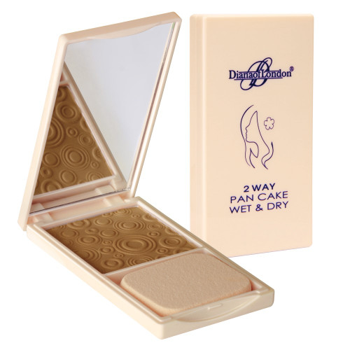 Diana 2 way Pan Cake Wet & Dry Powder Foundation 116 Golden Brown