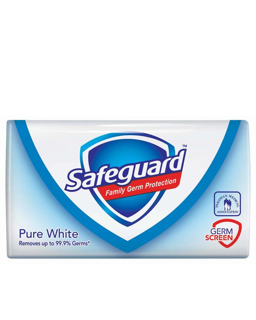 Safeguard Anti-Bacterial Pure White Bar Soap 100 Gram  buy online in pakistan best price original products