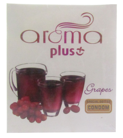 Aroma Plus Grapes Special Dotted Condom 3 Piece (Front)
