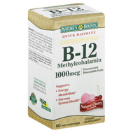 Nature's Bounty B-12 Methylcobalamin 1000 mcg (60 Quick Dissolve Tablets)