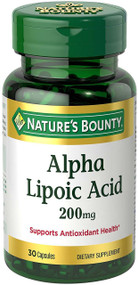 Nature's Bounty Alpha Lipoic Acid 200mg (30 Softgels)