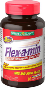 Nature's Bounty Flex-a-Min Super Glucosamine 2000 Plus (60 Softgels)