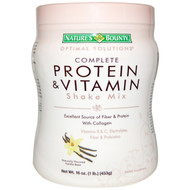 Nature's Bounty Optimal Solution Complete Protein & Vitamin Shake Mix Vanila Powder 16 O.Z.