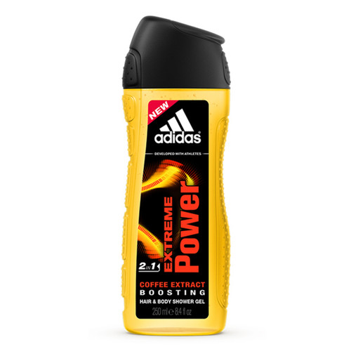 Adidas Men's Extreme Power Coffee Bean Extract Hair & Body Shower Gel 250ML
