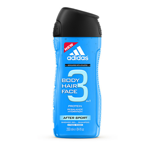 Adidas 3 in 1 After Sport Protein Balance Hydration Shower Gel 250ML
