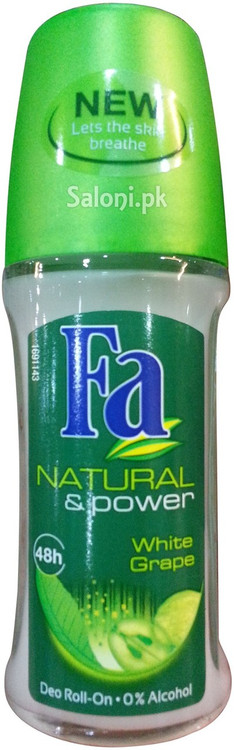 Fa Natural & Power White Grape Roll On Deodorant 48h Front