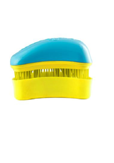Dessata Mini Hair Brush Mini Turquoise- Yellow