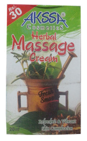 Akssa Cosmetic Herbal Massage Cream 20ML(Front)