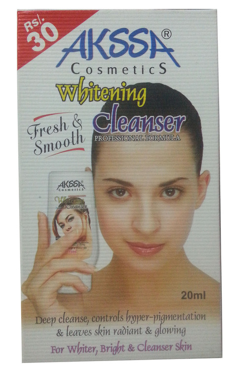 Akssa Cosmetic Whitening cleanser 20ML(Front)
