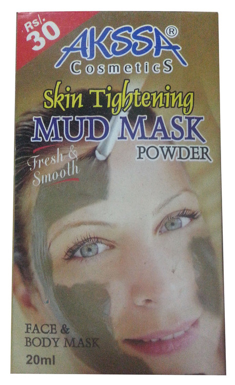 Akssa Cosmetic Skin Tightening Mud Mask Powder 20 ML (Front)