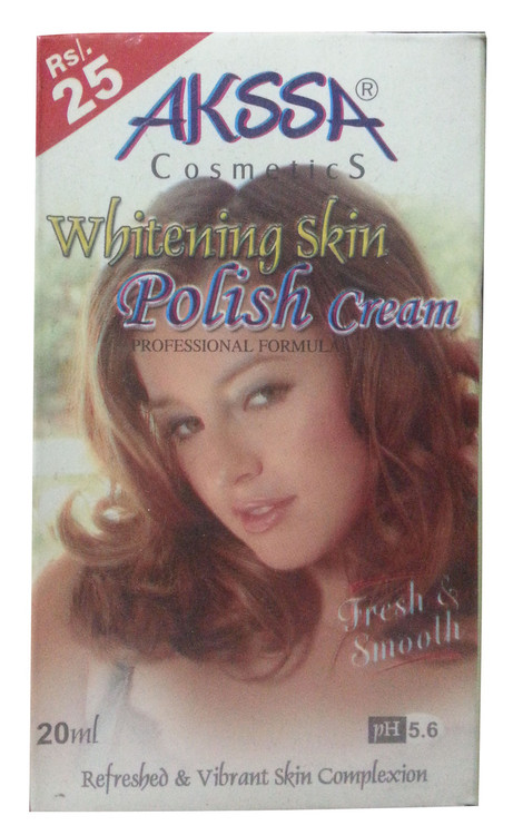 Akssa Cosmetic Whitening Skin Polish Cream 20 ML (Front)