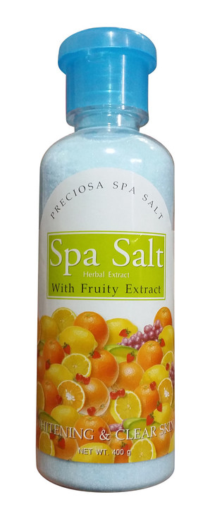 Preciosa Spa Salt Herbal Extract With Fruity Extract Whitening & Clear Skin400 Gram(Front)