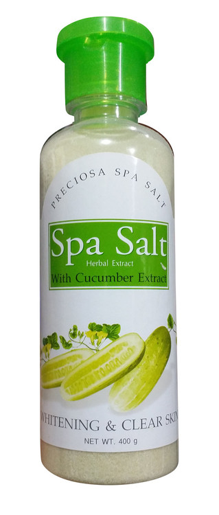 Preciosa Spa Salt Herbal Extract With Cucumber Extract Whitening & Clear Skin 400 Gram