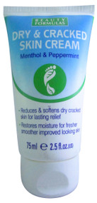 Beauty Formulas Dry & Cracked Skin Cream Menthol & Peppermint 75ML