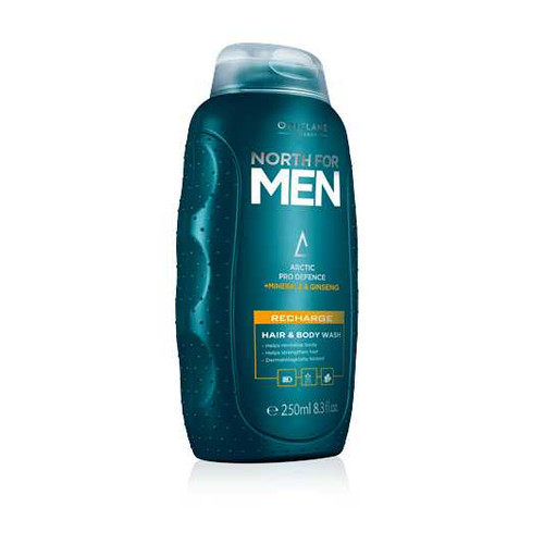Oriflame North For Men Recharge Hair & Body Wash 250ML