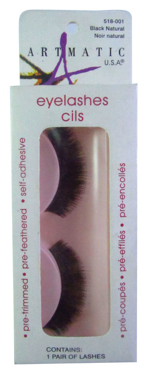 Artmatic Black Natural Eyelashes Cils 001