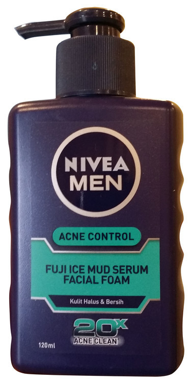 Nivea Men Acne Control Fuji Ice Mud Serum Facial Foam 120 ML