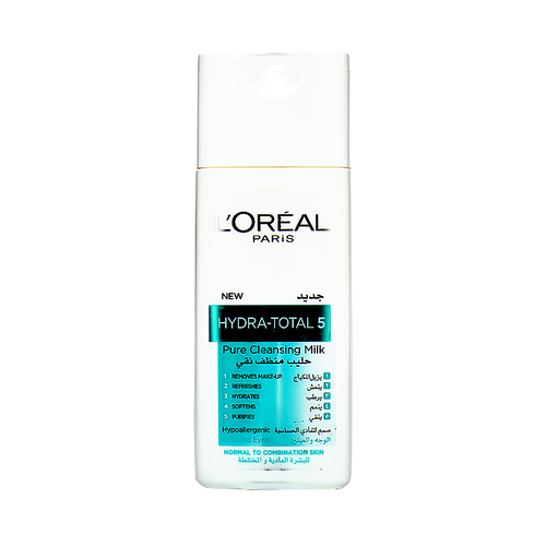 L'Oreal Paris Hydra Total 5 Pure Cleansing Milk (Normal to Combination Skin)
