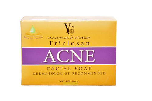 YC Triclosan Acne Facial Soap 100 Grams