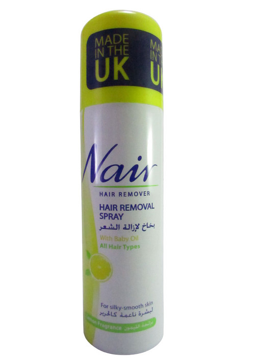 Nair Hair Removal Spray With Baby Oil For Lemon Fragrance 200 Ml
