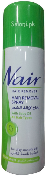 Nair Hair Removal Spray With Baby Oil Kiwi Extract 200 Ml Rs 435