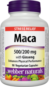 Webber Natural Maca with Ginseng 90 Softgels