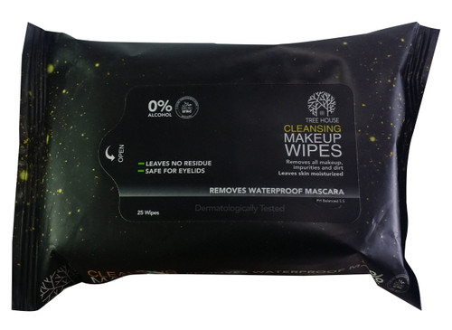 Tree House Cleansing MakeUp 25 Wipes