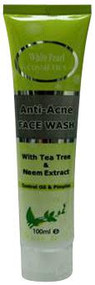 White Pearl Anti-Acne Face Wash Tea Tree & Neem Extract