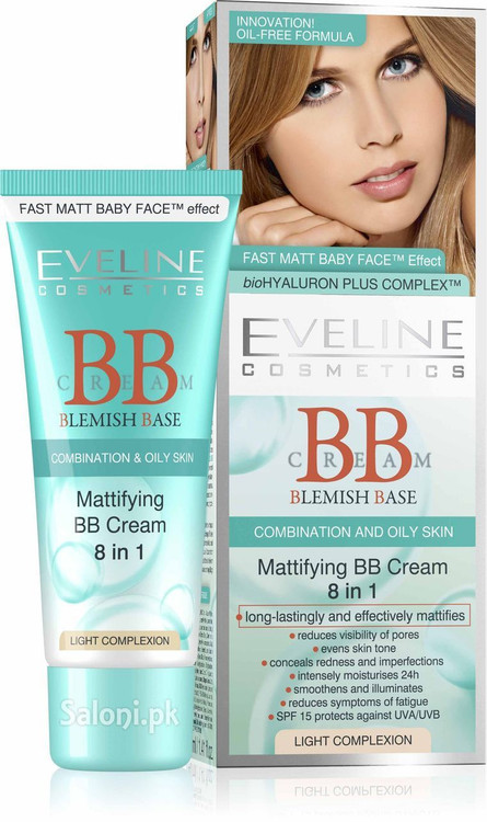 Eveline Mattfying BB Cream 8 in 1 Light Complexion