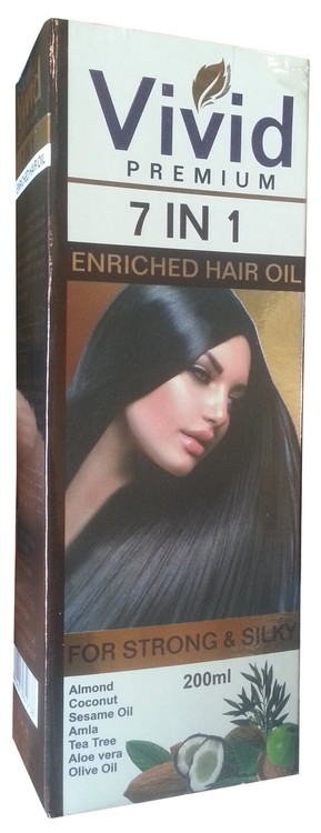 Vivid Premium 7 in 1 Enriched Hair Oil For Strong & Silky