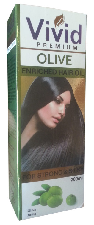 Vivid Premium Olive Enriched Hair Oil For Strong & Silky 200ML