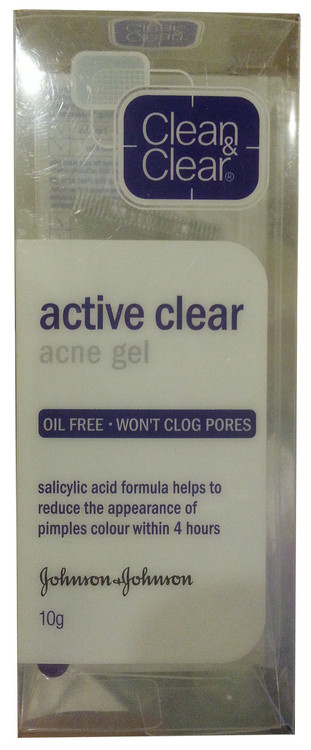 Clean & Clear Active Clear Acne Gel 10g