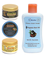 Silver Sea Creams, Hair Oil & Scrub Kit