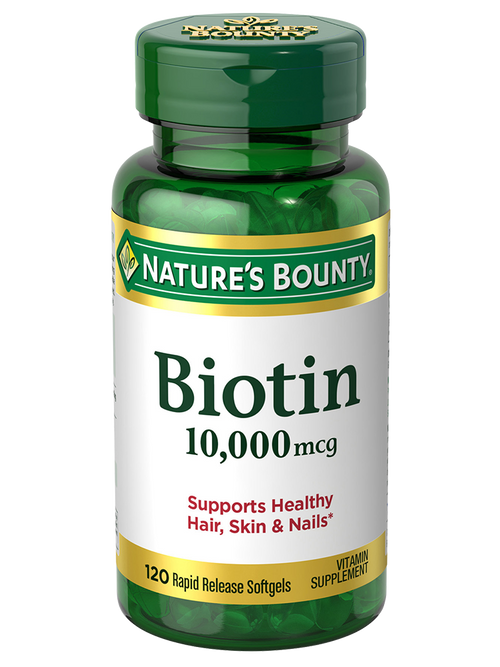 Nature's Bounty Biotin 10,000 mcg (120 Rapid Release Softgels)