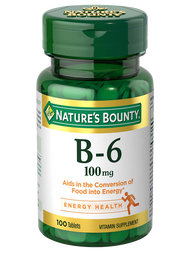Nature's Bounty® Vitamin B-6 100 mg (100 Tablets)