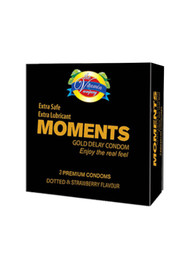 The Vitamin Company Moments Gold Delay Condoms 3 Pieces