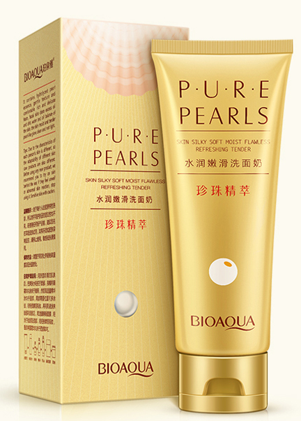Bioaqua Pure Pearls Skin Silky Soft Moist Facial Cleanser 100g  best price original products
