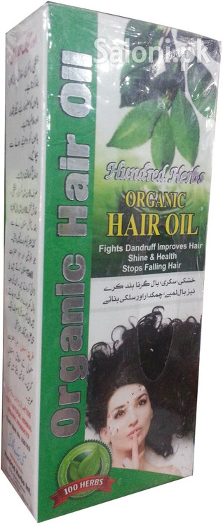 Hundred Herbs Organic Hair Oil Front