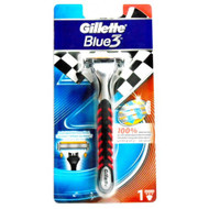 Gillette Blue 3 Red Razor 1 Up Original Product
