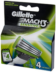 Gillette Mach 3 Senitive Blades 4 carts Buy Online  In Pakistan