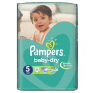 Pampers Baby-Dry Value Pack [Size 5/Junior/11-25 kgs, 16 Diapers) buy online in Pakistan