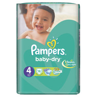 Pampers Baby-Dry Value Pack [Size 4/Large/7-18 KG, 16 Diapers) buy online in Pakistan