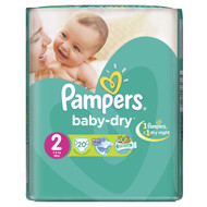 Pampers Baby-Dry Value Pack [Size 2/Small/3-6 KG, 20 Diapers) buy online in Pakistan