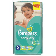 Pampers Baby-Dry Mega Pack [Size 5/Junior/11-25 KG, 64 Diapers) buy online in Pakistan